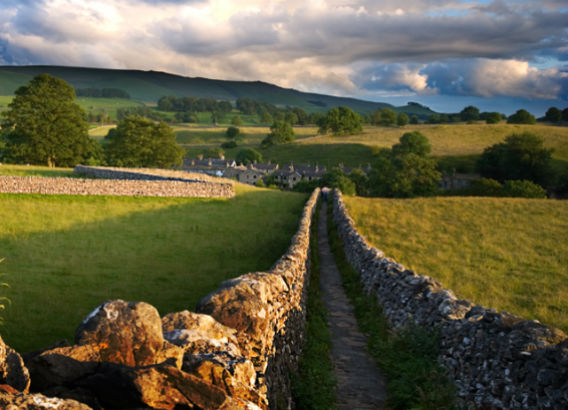 Wharfedale scene near Grassington, the home of Wharfedale Beer Festival